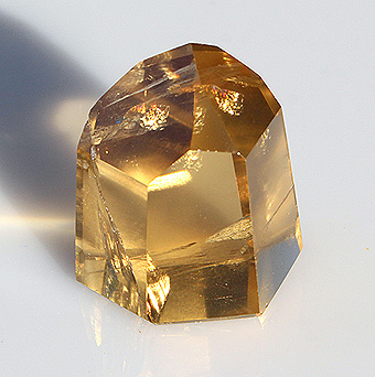 Small Citrine Crystal with Rainbows